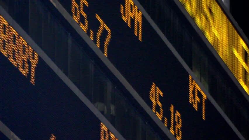 Stock Market LED Ticker Board