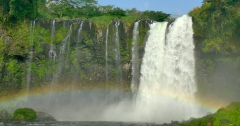 MEXICO - VERACRUZ - Eyipantla Falls near the town of San Andres Tuxtla in southern Veracruz. The largest waterfall in the region, it was also used as a location in Mel Gibson's movie, Apocalypto.