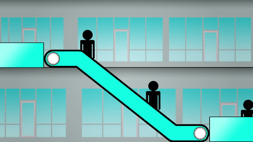 Escalator animation going down seamless loop stock footage video 8743612 shutterstock