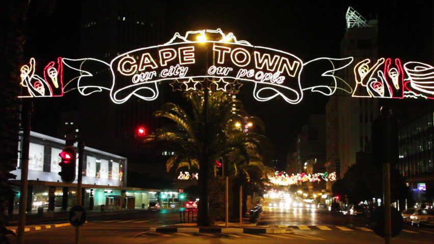 Cape Town holiday decorations. Shot in 1080p HD in Cape Town, South Africa.
