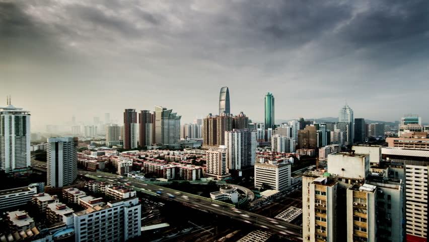 Shenzhen,China-Nov 10,2014: The traffic on Shenzhen's highway,China  | Shutterstock HD Video #8815348