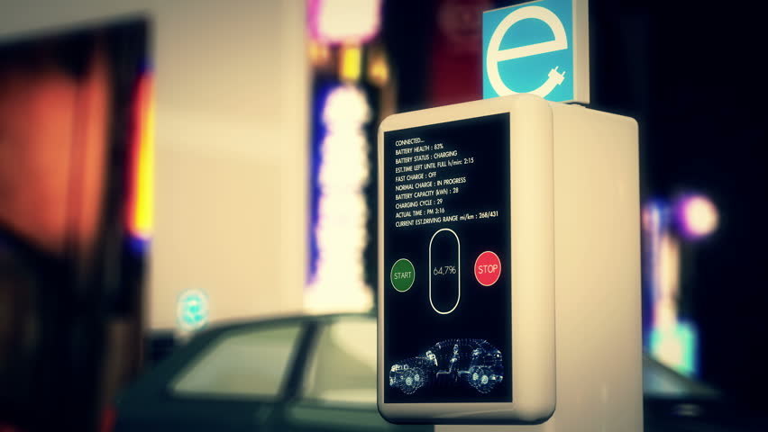 4k Electric Vehicle Charging Station In Work