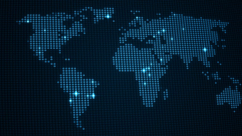 Digital world map in led screen with light dots loop animation digital world map in led screen with light dots loop animation different colors in my profile stock footage video 8863822 shutterstock gumiabroncs Gallery