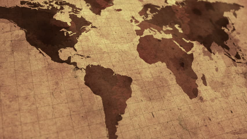 Vintage world map the globe rotates stock footage video 31297504 vintage map of the world old paper background with earth map seamless loop gumiabroncs Image collections