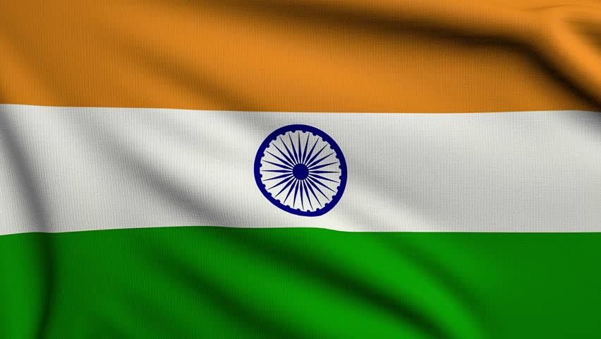 Clothe India Flag Hd: Seamless Loop Of The Indian Flag Gently Waving In The Wind