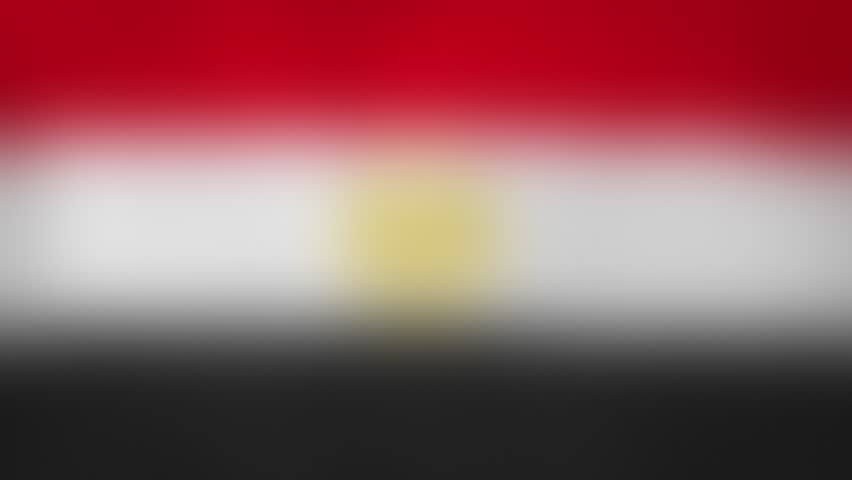 """EG - internet domain of Egypt. Typing top-level domain """".EG"""" against blurred waving national flag of Egypt. Highly detailed fabric texture for 4K resolution. Source: CGI rendering. Clip ID: ax1059c"""