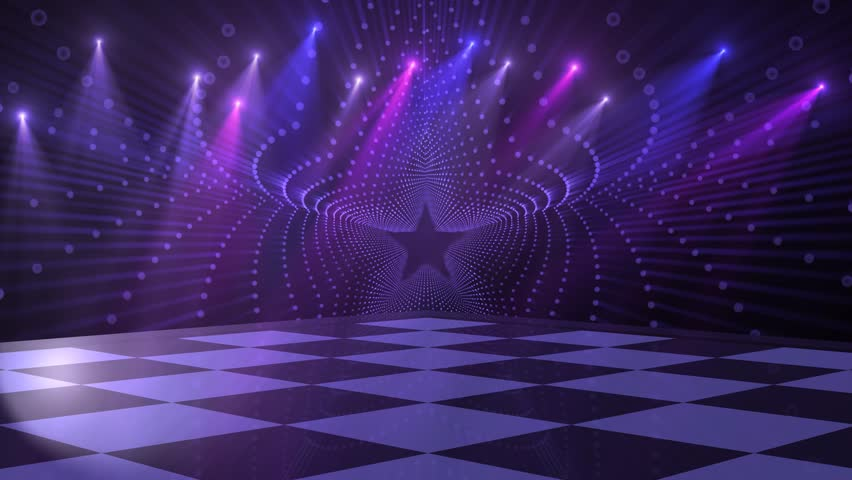 Virtual Studio Disco Dance Floor Stock Footage Video 100