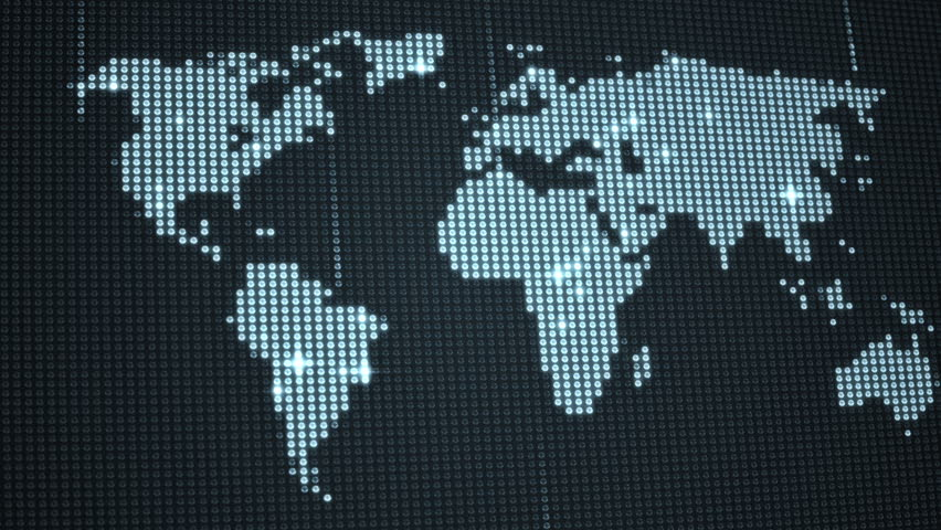 Led World Map.Digital World Map In Led Stock Footage Video 100 Royalty Free