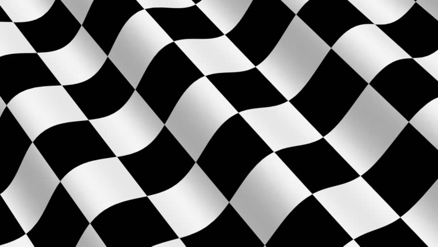 Checkered Racing Flag - 3d animation, seamless loop