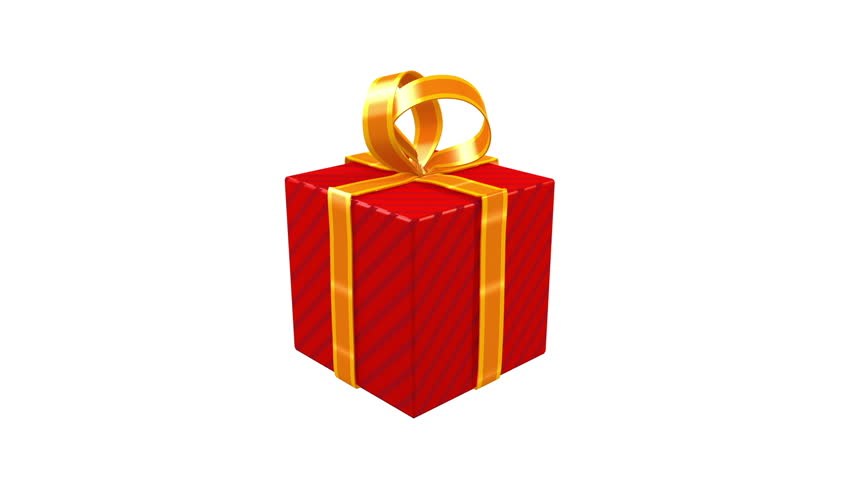 Animated gift box spinning stock footage video 5472053 shutterstock red gift opening zoom luma materfect background for title camera negle Images