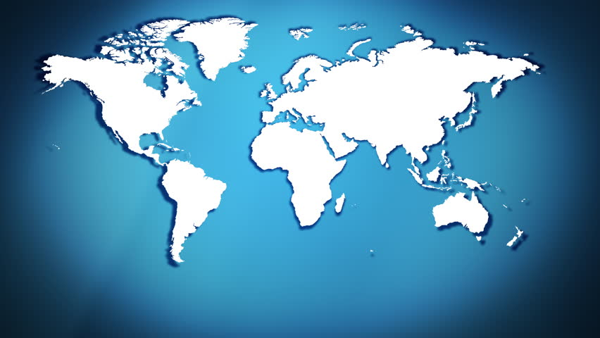 Business World Map Abstract Backgrounds Stock Footage Video 100