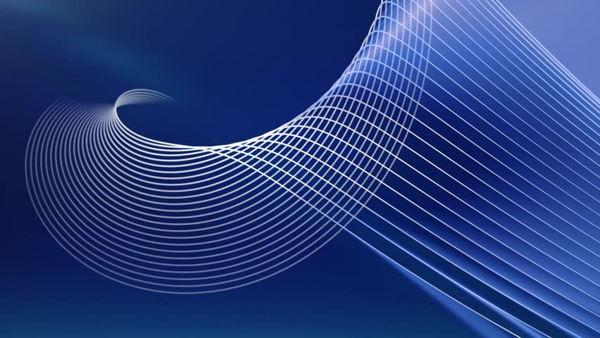 Blue vector lines abstract background