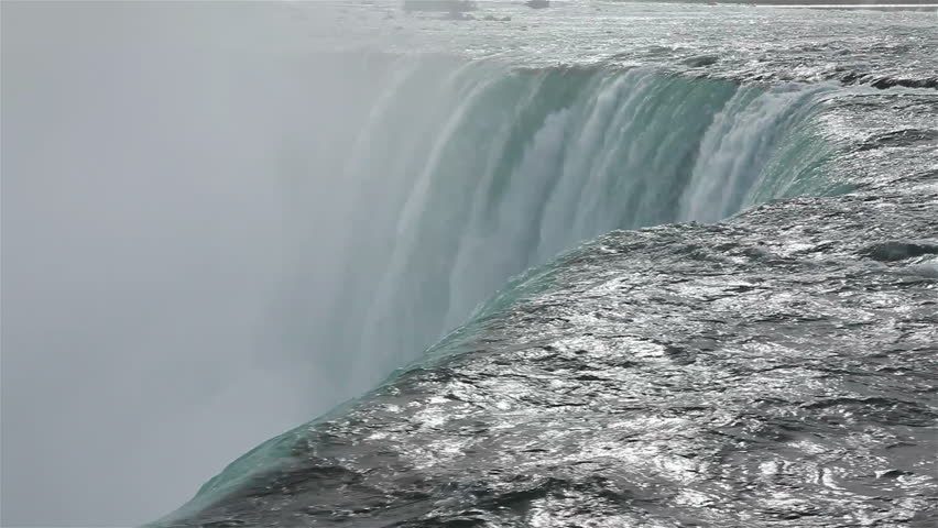 Powerful, misty and fast waters of Niagara Falls