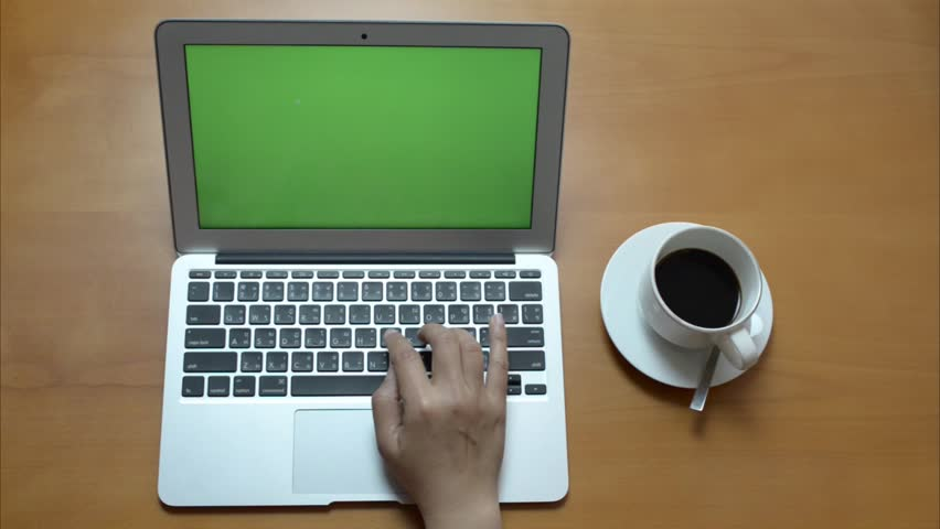 Green screen notebook with coffee | Shutterstock HD Video #9186032