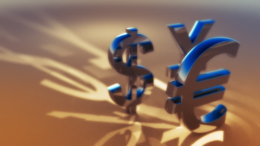 3d animated symbols of main global currency - dollar, euro, yuan. Seamless loop.   Shutterstock HD Video #919162