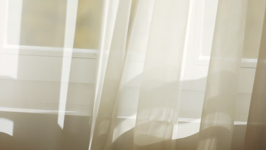 White Curtain Stock Footage Video Shutterstock
