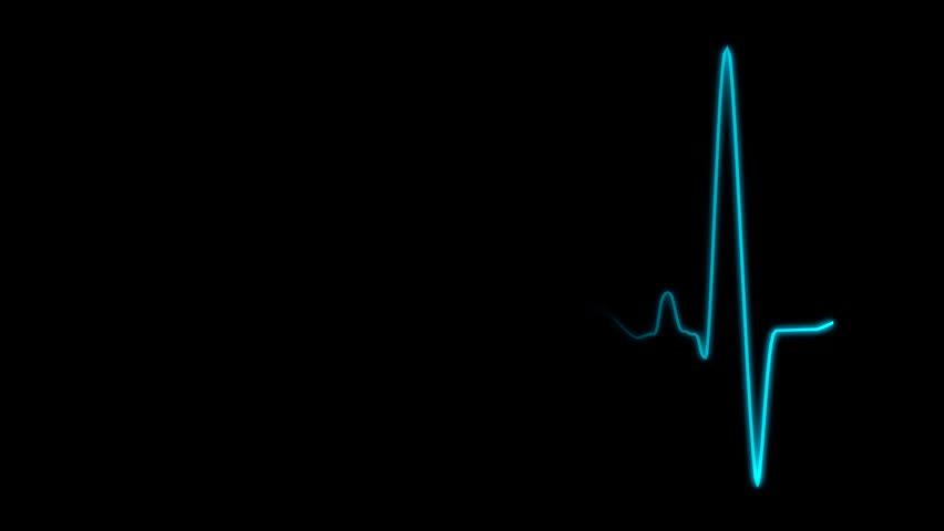 Cardiogram cardiograph oscilloscope screen blue loop | Shutterstock HD Video #9195464