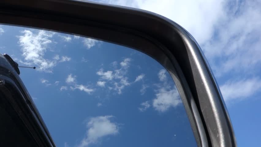 Side mirror and sky/blue sky | Shutterstock HD Video #9218552