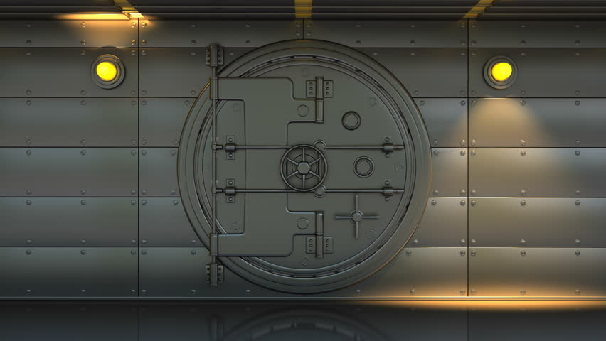 1080p Hd Resolution Video A Heavy Steel Bank Vault Slowly