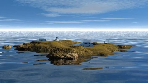 Landscape with islands and white houses 116 part2