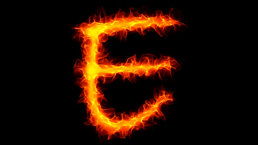 Burning Letter E Graffiti Isolated On Black With Matte Stock Footage Video 923872 | Shutterstock