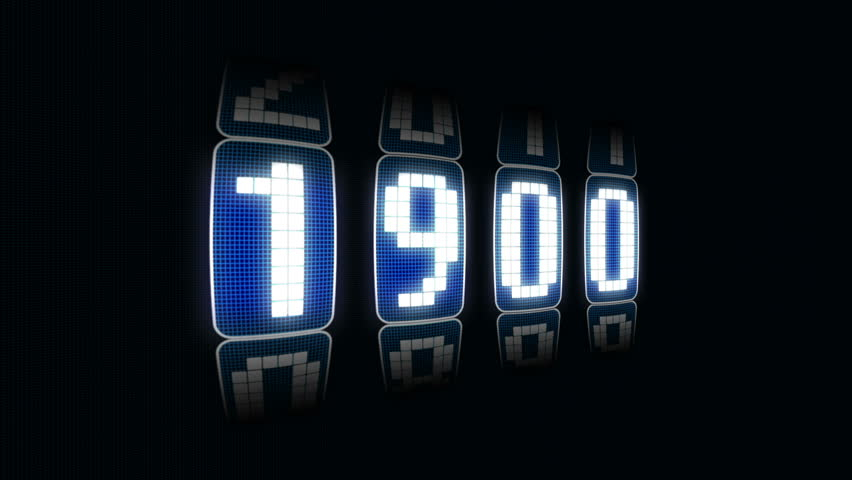 Led counter from 1900 to 2011 with alpha channel
