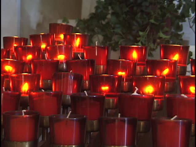 & Stock video of candles in catholic church 1 | 932 | Shutterstock