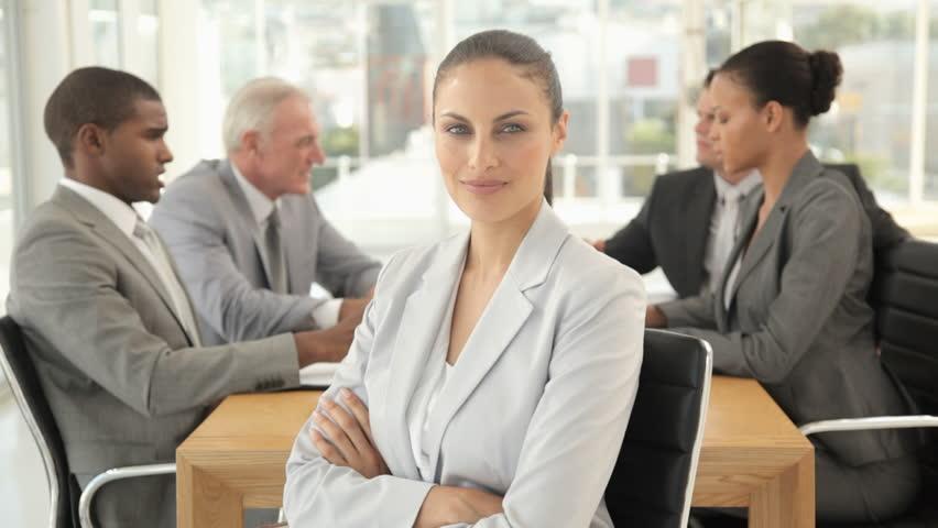 Businesswoman Posing at a Meeting | Shutterstock HD Video #932275