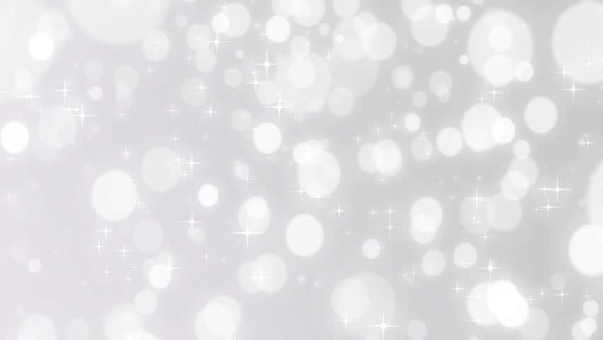 Christmas Silver Background With Stars And Bokeh Falling, Silver ...