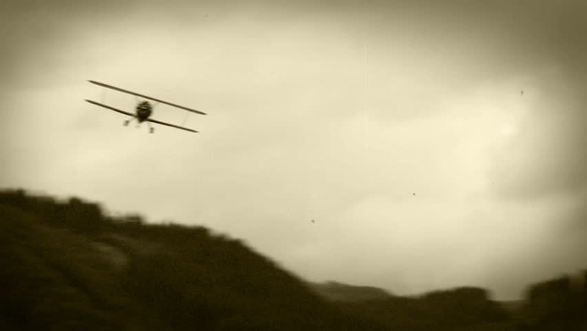 Old Film Effect: Wwii Biplane Stock Footage Video (100% Royalty-free)  9336902 | Shutterstock