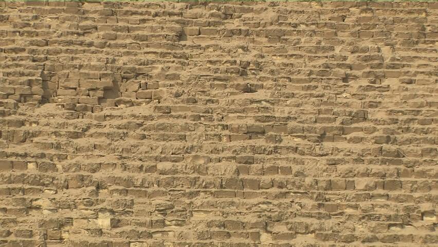 Closeup Of Pyramid Of Giza Stock Footage Video 100
