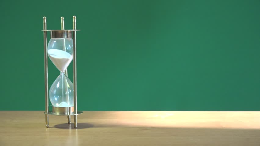 Related pack of one hundred dollars lying on a green background with hourglass | Shutterstock HD Video #9354482