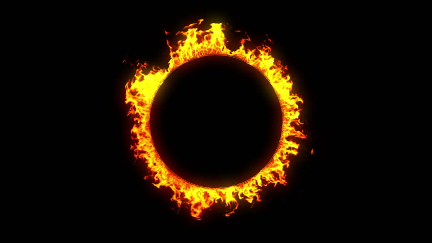 Beautiful Ring Of Fire Looped Stock Footage Video 100