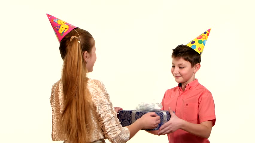 Girlfriend Gives A Birthday Box Stock Footage Video 100 Royalty