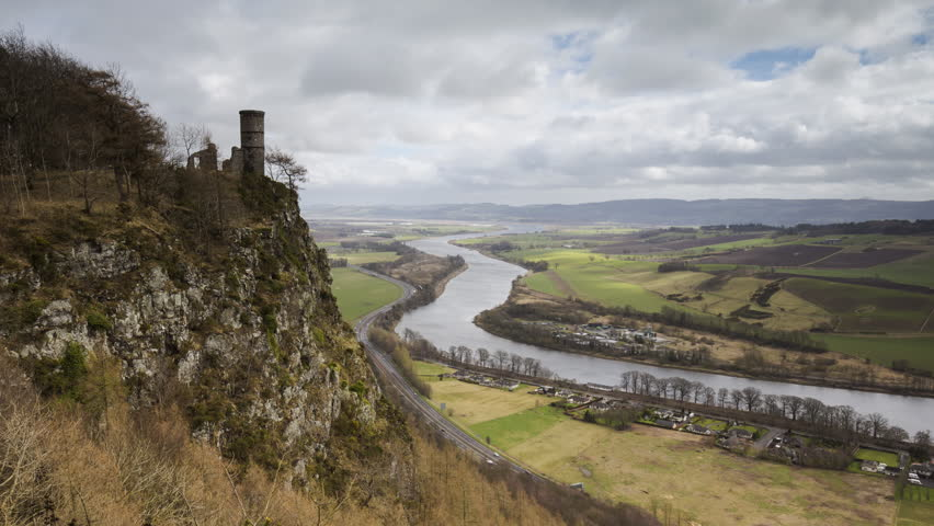 Timelapse of View from Kinnoul Hill Overlooking the River Tay