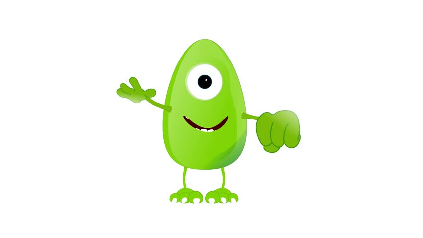Monster Fred happy amusing placeholder   Shutterstock HD Video #9392870