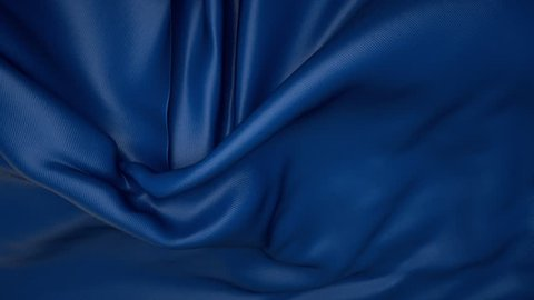 blue textile cloth disappearing, wedding unveil background, streaming silk