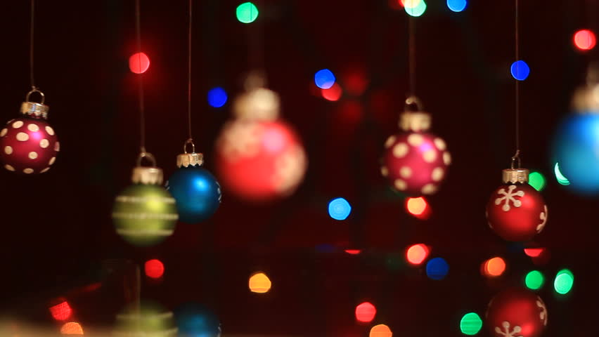 stock video of christmas decorations swinging with light in 946222 shutterstock