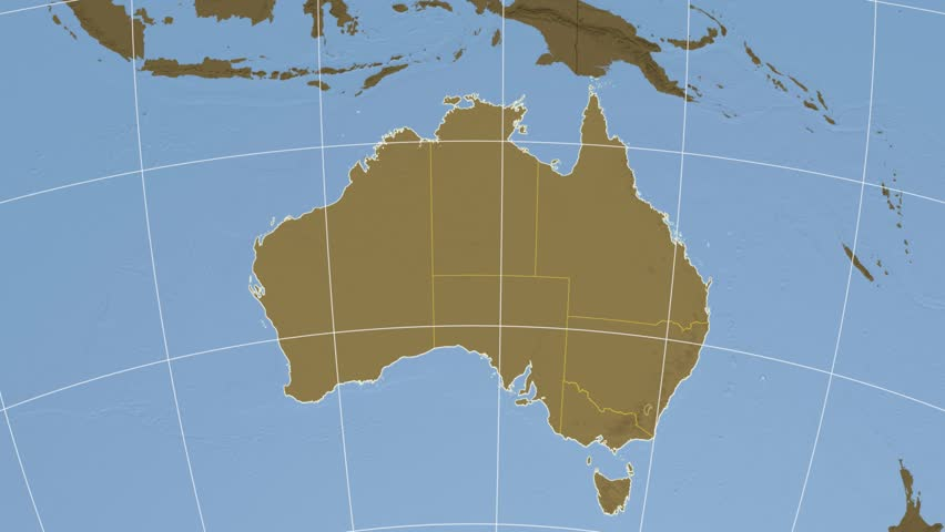 Queensland Extruded On The Elevation Map Of Australia With - Australia elevation data