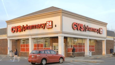 EAST PROVIDENCE, RI - APRIL 7: CVS pharmacy store open for business on April 7, 2015. CVS Pharmacy is the second largest pharmacy chain after Walgreens in the United States with more than 7,600 stores