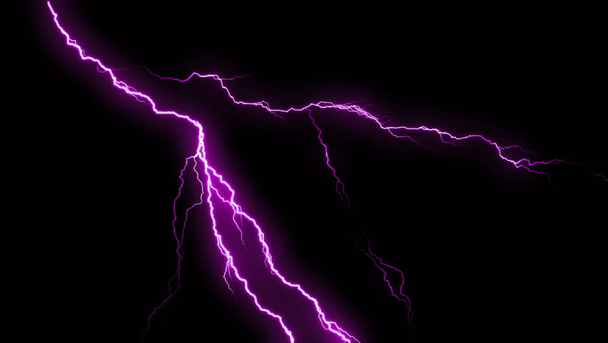 Purple lightning strikes flashing in the night. Lightning sequence in black background. MORE COLOR OPTIONS IN MY PORTFOLIO.  | Shutterstock HD Video #9589451