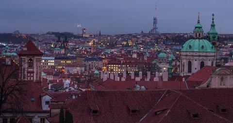 PRAGUE, MARS, 2015.  Timelapse in Prague, Chech Republic.
