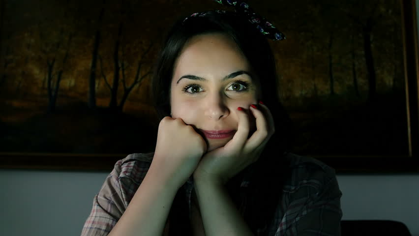 Young black girl webcam