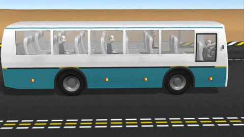 Moving bus