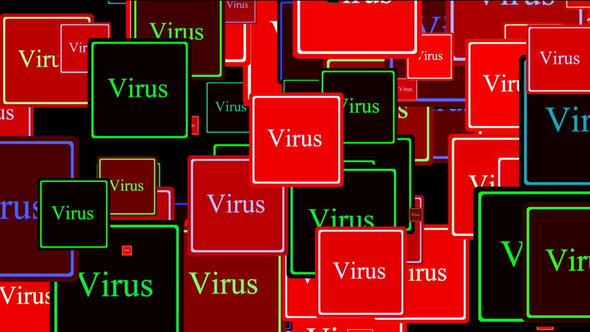 Virus alert background, security concept