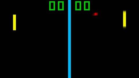 TV Tennis retro style game pixelated graphics