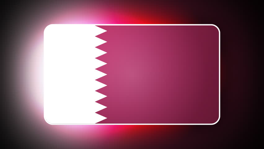 Qatar 3D flag - HD loop