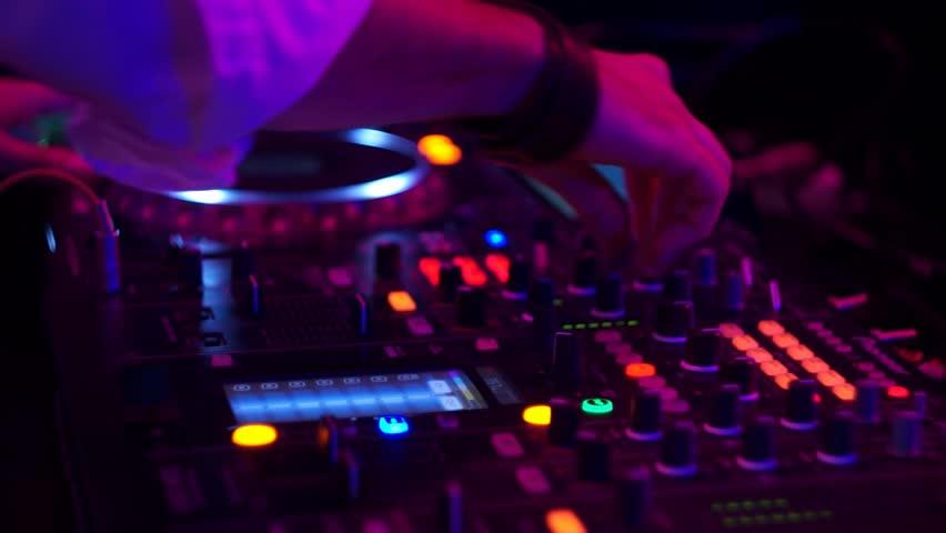 DJ At A Club Set   Shutterstock HD Video #9702905