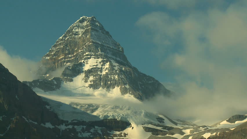 Time Lapse of clouds around the summit of Mount Assiniboine in the Canadian Rockies