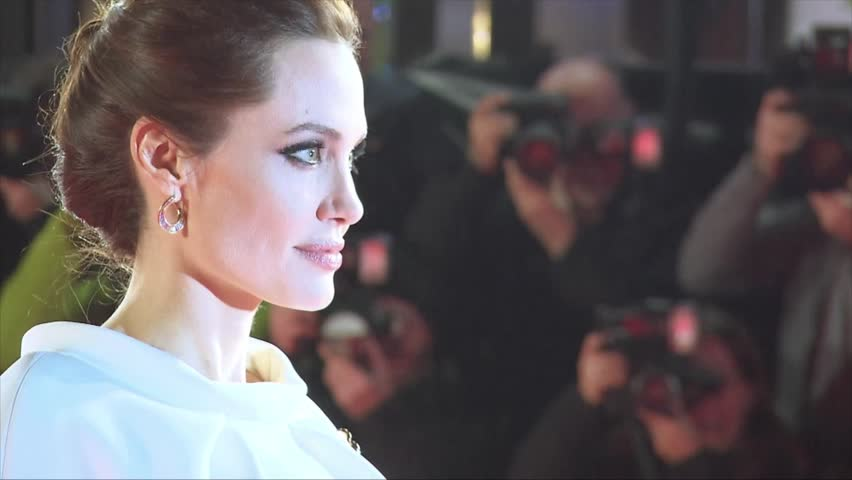 London, UK - November 25,2014: Angelina Jolie at Unbroken UK Premiere, Odeon Leicester Square